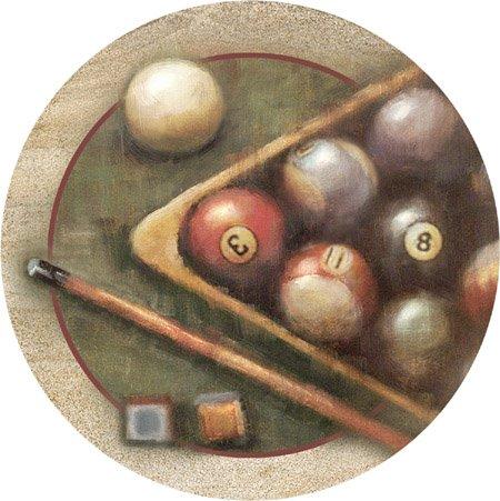 Nostalgic Billiards Sandstone Thirstystone Coasters