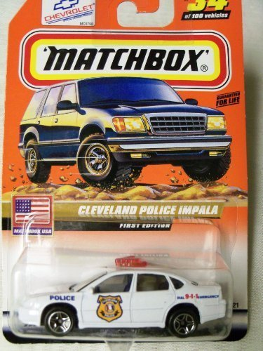 1999 Matchbox USA First Edition Cleveland Police Impala #34 of 100 - 1