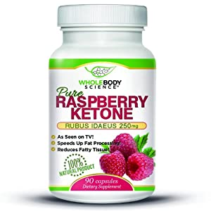Raspberry Ketones Pure - 500mg Fresh Weight Loss And Fat Burning Supplement Plus Appetite Suppressant Maximum Formula - Premium Quality - Made In Usa - Lifetime Guarantee by Whole Body Science