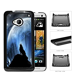 Wolf Howling On Hilltop With Full Moon Hard Plastic Snap On Cell Phone
