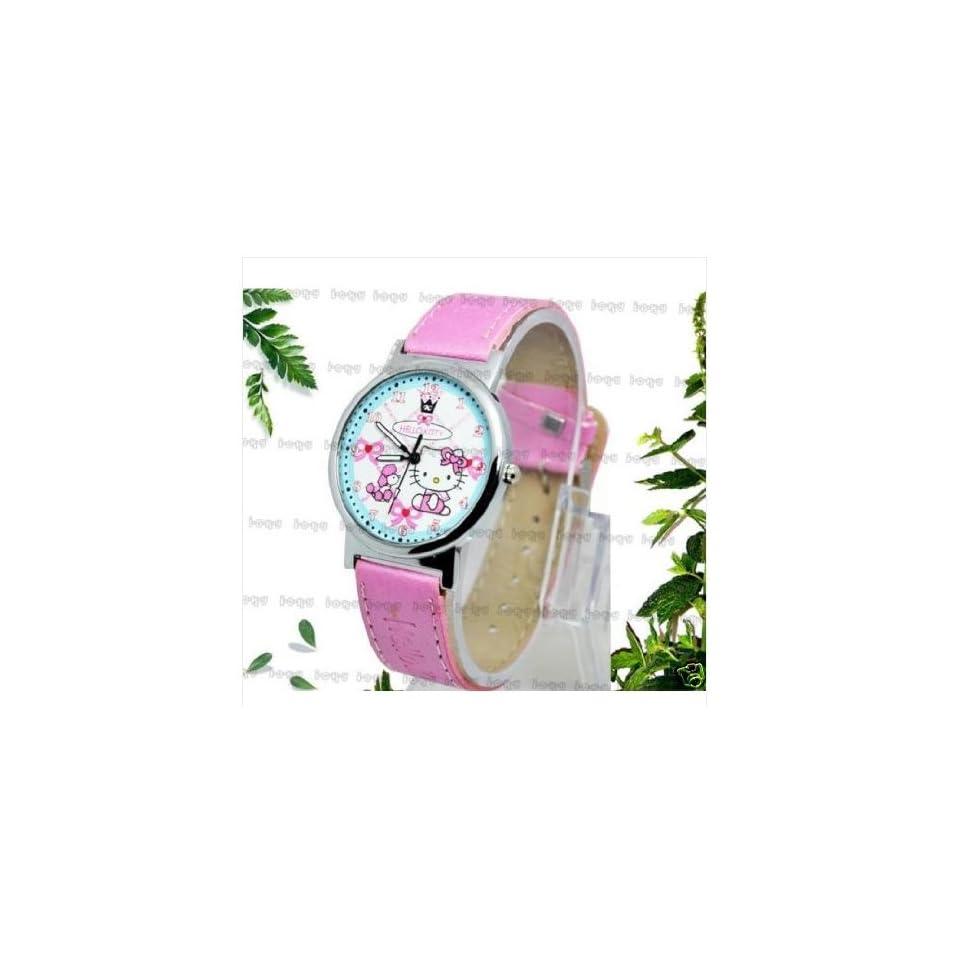 Hello Kitty Girls Lady Quartz Watch PINK