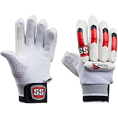 SS College Boy's RH Batting Gloves (White/Black)