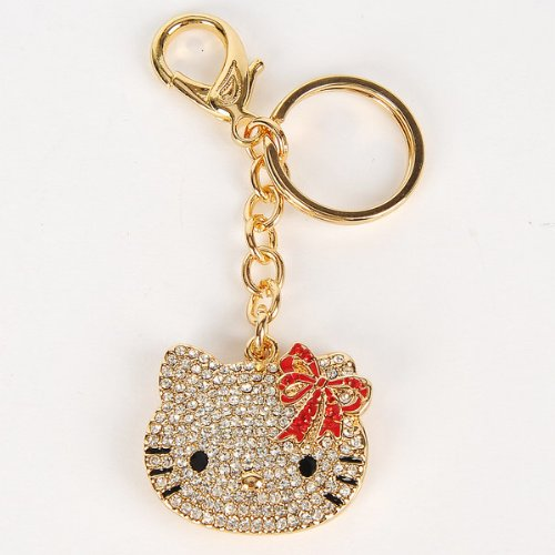 steel hello kitty themed keychain ideal gift for the hello kitty ...