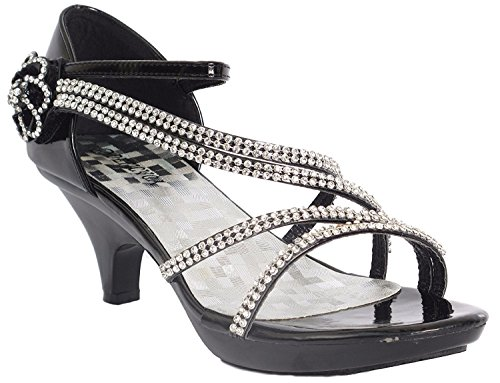 Delicacy Angel-48 Dress Open Toe Pumps Shoes Women Black 8