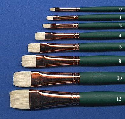 Silver Brush 1002-10 Grand Prix Premier Long Handle Hog Bristle Brush, Bright, Size 10 (Silver Brush Grand Prix compare prices)