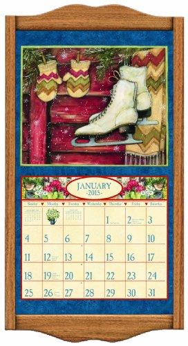 Lang Perfect Timing - Lang Classic Oak Calendar Frame, 14.3 x 27.5 Inches (1016009)