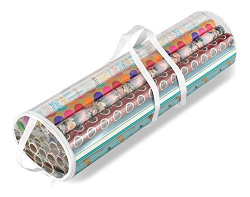 Whitmor 6044-4924 Gift Wrap Organizer, Clear (Gift Wrapping Paper Storage compare prices)