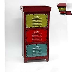 vintage metall schubladenschrank mit tablett kommode. Black Bedroom Furniture Sets. Home Design Ideas