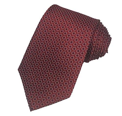 jaeger-mens-100-silk-neck-tie-necktie-red-white-blue-dots