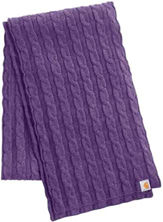 Carhartt WA054 Women's Cable Knit Scarf Grape Heather One Size