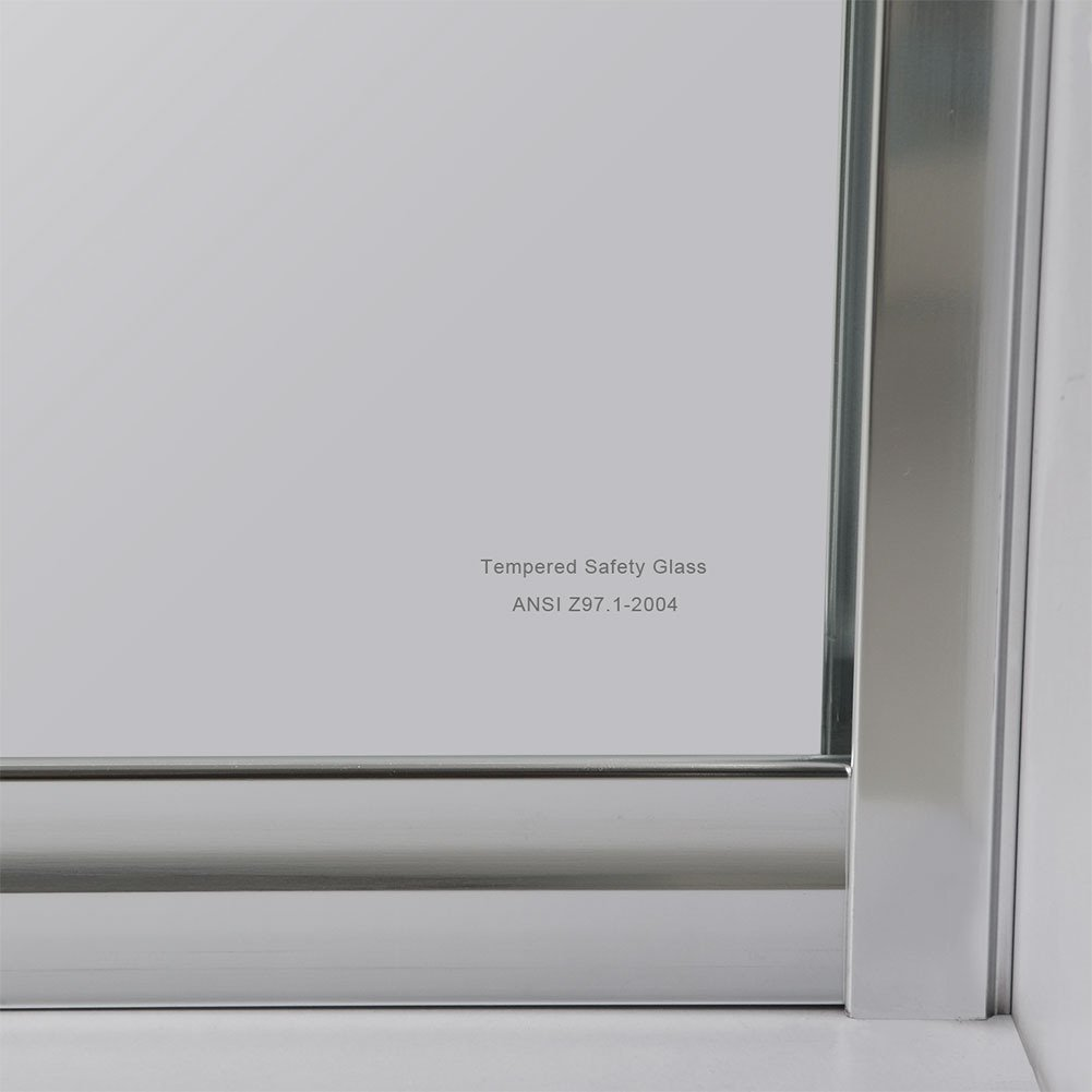 Sunny Shower B020 Frameless Bypass Sliding Shower Doors