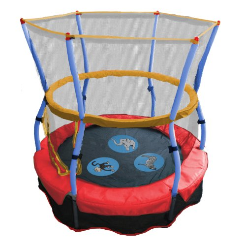 Great Features Of Skywalker Trampolines 48 In. Round Zoo Adventure Bouncer with Enclosure