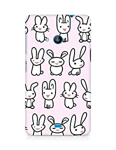Amez designer printed 3d premium high quality back case cover forMicrosoft Lumia 535 (bunny copy)