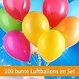 Luftballons für Hochzeit - 100 bunte Ballons - Luftballons Helium geeignet