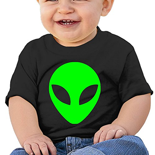 [KIDDOS Infants &Toddlers Baby's Green Alien Head UFO T Shirts For 12 Months Black] (Storm X Men Costume Comic)