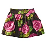 Cherokee Girls' Floral Print Skirt - Navy/Pink
