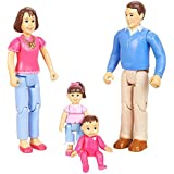 You & Me, Happy Family, Family Action Figure Set [Dad, Mom, Daughter, and Baby] Brown Hair
