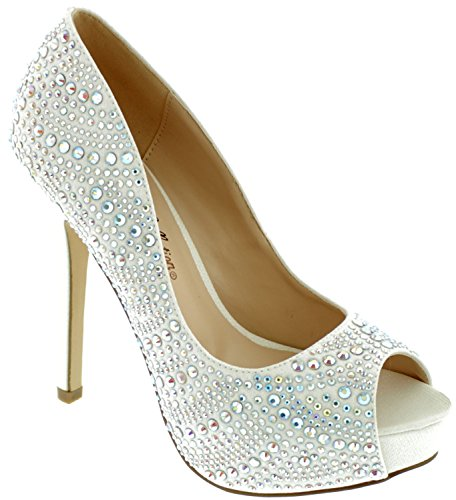 Open Peep Toe Dressy High Heel Sequin Pumps Frozen Elsa Shoes