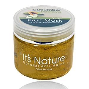 It's Nature - Natural Anti-Aging with Dead Sea Minerals, Papaya and Cucumber Enzyme Moisturizing Facial Mask for Dry and Dehydrated Skin