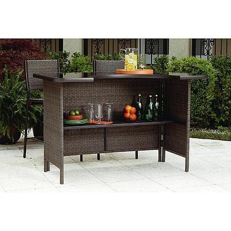 Grand Resort 5 Piece Outdoor Bar Set This Patio Furniture Wicker Bar Bundle Is The Perfect