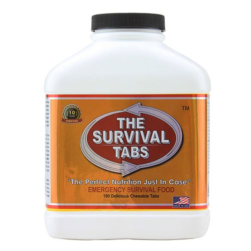 Survival Tabs 15-Day Prepper Food Replacement For Directory Assistance Operator Emergency Food Supply Gluten Free And Non-Gmo - Vanilla Malt Flavor