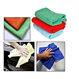 Autosun Multi Purpose Microfiber Dry Wet Cleaning Polishing Cloth For Car/Home/Office Set Of 3