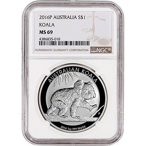 2016 AU Australia Silver (1 oz) Koala $1 MS69 NGC