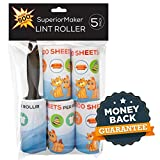 Lint Roller Lint Remover and Pet Hair Remover - 5 PACK - 500...