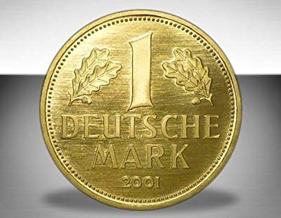 """DEUTSCHLAND / GERMANY / ALLEMANGNE 1 DM GOLDDM GEDENKMÜNZE """" 1 Deutsche Goldmark 2001 """" - 999er Feingold 12g Gold - Goldmünze ANLAGEMÜNZE - im original Etui mit Zertifikat"""