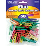 BAZIC Mini Colored Clothespin, 50 Per Pack (3439-24P)
