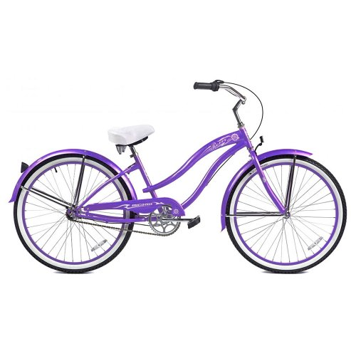 Micargi Rover NX3 Beach Cruiser Bike, Purple, 26-Inch