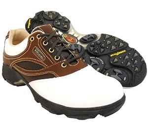 Buy New Mens Etonic G-Sok Sport Golf Shoes White Cocoa Fudge Size 9 M - Retail $99 by Etonic