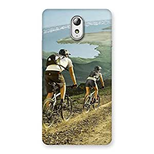 Ajay Enterprises Advantur with Bycycle Back Case Cover for Lenovo Vibe P1M
