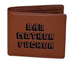 Porte-monnaie Pulp Fiction Bad Mother Fucker, en cuir