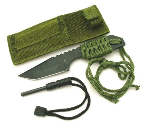 7″ Survival Push Knife with Fire Starter Set (SG7PKF)