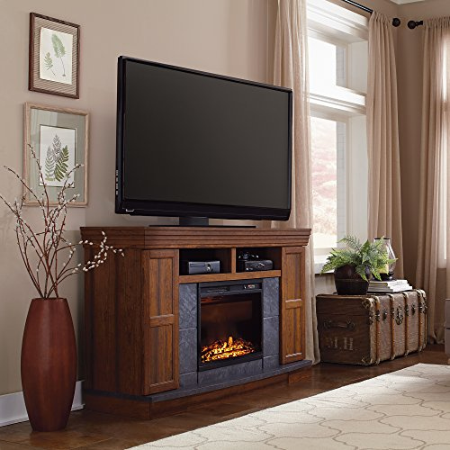 Sauder Carson Forge Electric Fireplace Media Console, Washington Cherry