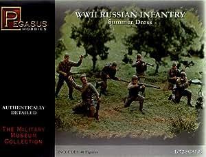 Russian Infantry Summer Dress WWII (40) (Plastic) 1-72 Pegasus
