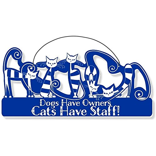 Cool Cats Cat-Gang Shaped Laser-Etched 3-In-1 Plaques Ver2 Have Staff Bue front-376878