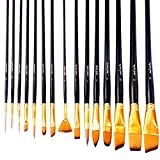 Art Paint Brushes Set by Mont Marte, Great for Watercolor, Acrylic, Oil-15 Different Sizes Nice Gift for Artists, Adults & Kids 2 Pack (Tamaño: 2 PACK)