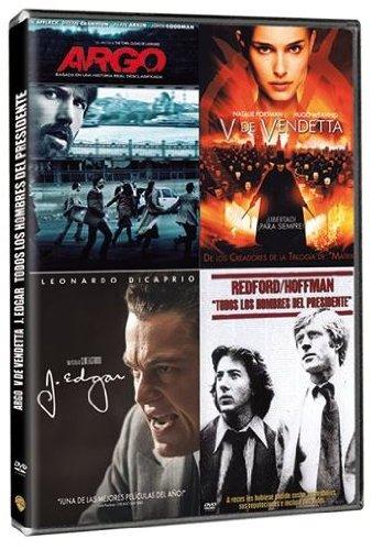 Pack: Argo + V De Vendetta + J. Edgar + Todos Los Hombres Del Presidente [DVD]