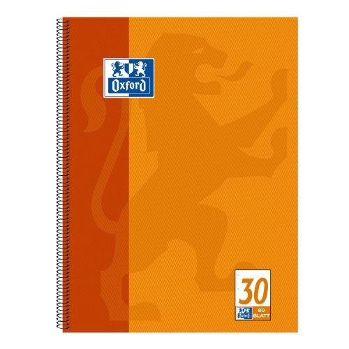 Oxford 100050359 - Block notes A4+, in bianco, 80 fogli, carta ottica 90 g/m², confezione da 10 pezzi, colore: Arancione