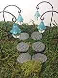 Fairy garden hanging lanterns and stepping stones. 10 piece set.