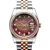 Rolex Datejust 36 116231 Black Dial Rose Gold with Stainless Steel Case & Jubilee Bracelet (Color: Black)
