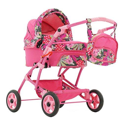 Puppenwagen Babywanne Trage Spielzeug JOLA (Blumen