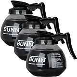 BUNN-Glass-Regular-Coffee-Pot-Decanter-Carafe-12-Cup-Set-of-3-Black