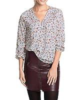 ESPRIT Damen Regular Fit Bluse mit Blumenmuster