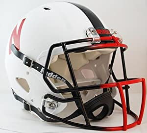 Nebraska Cornhuskers (Special White Matte) Riddell Speed Revolution Full Size... by Riddell