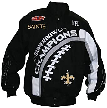 New Orleans Saints Super Bowl XLIV Sewn Button Jacket by RR Designs