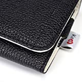 """Kroo Clutch Wristlet Wallet with See Thru Screen fits Smartphone and Phablets up to 6.3-Inch - Carrying Case - Non-Retail Packaging - Black and White"""""""