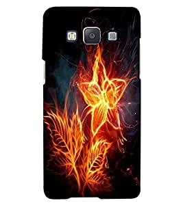 ColourCraft Flaming Flower Design Back Case Cover for SAMSUNG GALAXY A7
